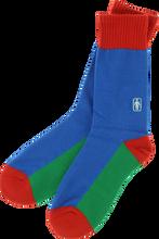 Girl - Og Crew Socks Blu / Grn / Red Single Pair