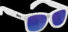 Glassy Sunhaters - Deric Wht / Blue Mirror Sunglasses