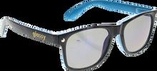 Glassy Sunhaters - Leonard Blk / Blu / Blu Mirror Sunglasses