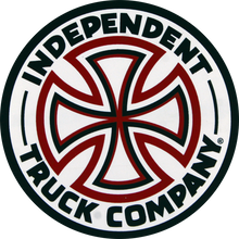 "Independent - Red / White Cross 3"" Decal Single - Skateboard Decal"