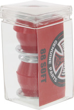 Independent - Std Conical Cushions 88a Red 2pr W / Washers - Skateboard Bushings