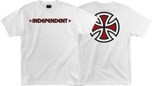 Independent - Bar / Cross Ss M - White - Skateboard Tshirt
