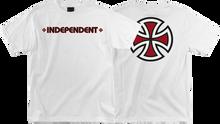 Independent - Bar / Cross Ss L - White - Skateboard Tshirt