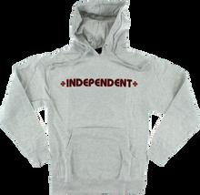 Independent - Bar / Cross Hd / Swt S - Heather Grey - Skateboard Sweatshirt