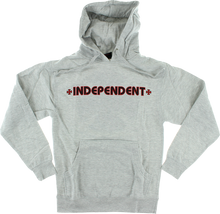Independent - Bar / Cross Hd / Swt Xl - Heather Grey - Skateboard Sweatshirt