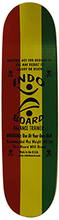 Indoboard - Mini Kicktail Deck / Roller Kit Rasta - Balance Board