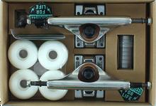 Industral Trucks - Comp - Pk 5.0 Raw / Raw W / Wht 52mm Ppp - (Pair) Skateboard Trucks