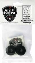 Khiro - Double Barrel Bushing Set 95a Hard Black - Skateboard Bushings