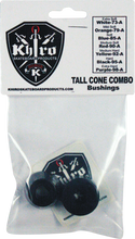 Khiro - T - Cone / L - Barrel Bushing Set 95a Hard Blk - Skateboard Bushings