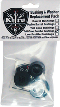 Khiro - T - Cone / L - Brl Bushing / Wash Kit 95a Hard Blk - Skateboard Bushings