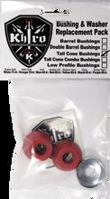 Khiro - Tall Cone Bushing / Wash Kit 90a Med Red - Skateboard Bushings