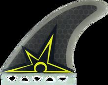 Kinetik - B.irons Ultra Core S - M Ffs Smoke W / Yel - Surfboard Fins