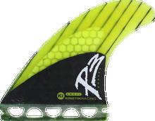 Kinetik - Phase3 Sml Ffs Neon Lime - Surfboard Fins