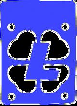 """Lucky Bearings - Blue 1 / 8"""" Risers Single - Skateboard Riser"""