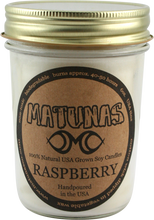 Matunas - Soy Candle 6oz Glass - Raspberry