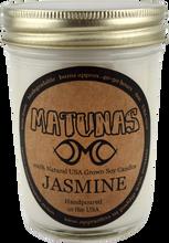 Matunas - Soy Candle 6oz Glass - Jasmine