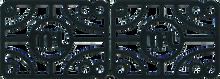 "Mini Logo - Logo 1 / 2"" Risers Single Set Black Ppp - Skateboard Riser"