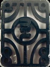 "Mini Logo - Logo 1 / 4"" Risers Single Set Black Ppp - Skateboard Riser"