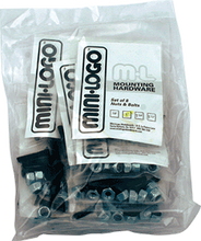 "Mini Logo - 10 ack Hardware 1 - 1 / 2"" Phillips Black"