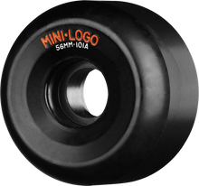 Mini Logo - Logo A - Cut 56mm 101a Black Ppp - (Set of Four) Skateboard Wheels