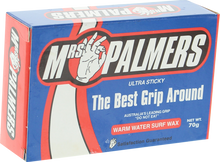 Mrs Palmers - Palmers Wax Warm Single Bar - Surfboard Wax