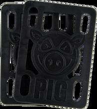 "Pig - 1 / 4"" Risers Black Single Set - Skateboard Riser"
