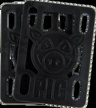 "Pig - Piles 1 / 8"" Hard Risers Black Single Set - Skateboard Riser"