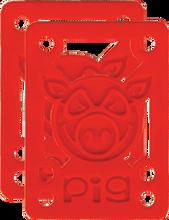 "Pig - Piles 1 / 8"" Hard Risers Red Single Set - Skateboard Riser"