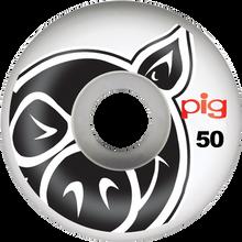 Pig - Head Natural 50mm - (Set of Four) Skateboard Wheels