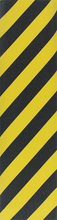 Pimp Grip - Grip Single Sheet - Blk / Yel Stripe - Skateboard Grip Tape
