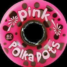 Pink - Polka Dots 62mm 96a Pink - (Set of Four) Skateboard Wheels