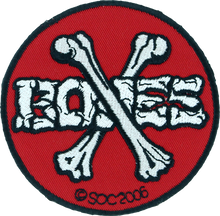 Powell Peralta - Cross Bones Patch Red / Blk