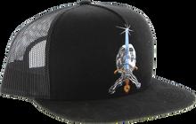 Powell Peralta - Skull & Sword Trucker Mesh Hat Adj - Blk / Blk