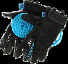 Rayne - High Society V2 Slide Gloves S - Black / Cyan - Skateboard Pads