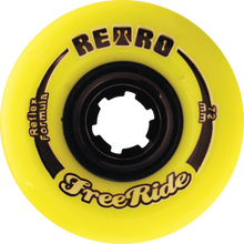 Retro - Freeride 72mm 83a Lemon - (Set of Four) Skateboard Wheels