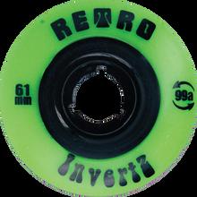 Retro - Invertz Classic Park 61mm 99a Lime - (Set of Four) Skateboard Wheels