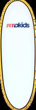 Rtd Kids - Mini - Grom Stubby Surfboard 5'6 Wht / Yel No Fins