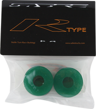 Sabre - R - Type Bushings 93a Clr.green 2pk W / Washers - Skateboard Bushings