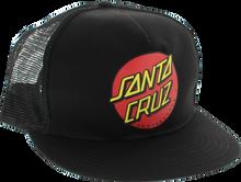 Santa Cruz - Classic Dot Mesh Hat Adj - Blk / Blk