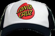 Santa Cruz - Classic Dot Mesh Hat Adj - Blk / Wht