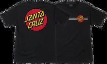 Santa Cruz - Classic Dot Ss S - Black - Skateboard Tshirt