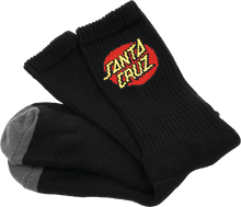 Santa Cruz - Cruz Logo Socks Black 2 Pair Bundle