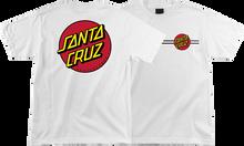 Santa Cruz - Classic Dot Ss M - White - Skateboard Tshirt