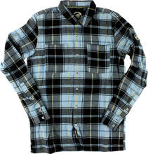 Santa Cruz - Cliff Button Up L / S S - Blue Plaid