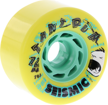 Seismic - Tantrum 72mm 78a Yel / Mint - (Set of Four) Skateboard Wheels