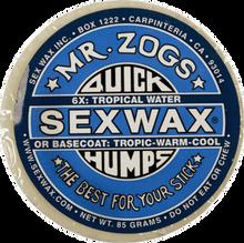 Sex Wax - Humps 6x Blue - Extra Hard - Single Bar - Surfboard Wax