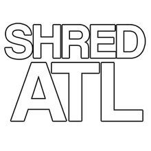 "Shred Stickers - Stickers - Shred Atl / Wht 6""x4"" Single - Skateboard Decal"