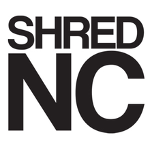 "Shred Stickers - Stickers - Shred Nc Blk 5""x4.5"" Single - Skateboard Decal"