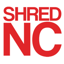 "Shred Stickers - Stickers - Shred Nc Red 5""x4.5"" Single - Skateboard Decal"