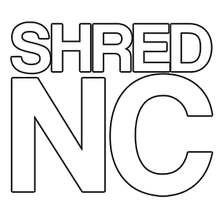 "Shred Stickers - Stickers - Shred Nc Wht 5""x4.5"" Single - Skateboard Decal"